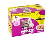 Whiskas kapsičky hydinový výber v šťave 12x100 g