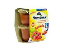 Hamé Hamánek Detská výživa krup.kaša a červené ovocie 2x130g