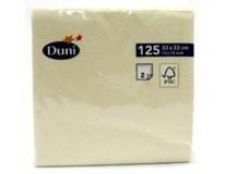Servítky papierové Cream 2-vrstvové 33cm Duni 125ks