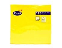 Servítky papierové žlté 2-vrstvové 33cm Duni 125ks