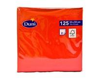 Servítky papierové červené 2-vrstvové 33cm Duni 125ks