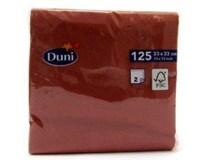 Servítky papierové bordo 2-vrstvové 33cm Duni 125ks