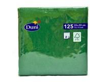 Servítky papierové zelené 2-vrstvové 33cm Duni 125ks