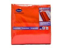 Servítky papierové Dunisoft červené 40cm Duni 60ks