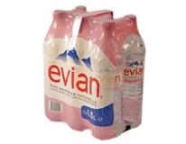 Evian prírodná minerálna voda 6x1,5 l PET