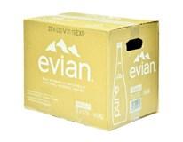 Evian prírodná minerálna voda 12x750 ml SKLO