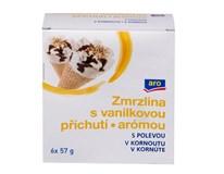 ARO Kornút vanilka mraz. 6x115 ml