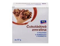 ARO Kornút čokoláda mraz. 6x115 ml