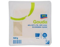 ARO Gouda plátky 48% chlad. 1x500 g
