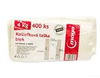 Tašky košieľkové 4kg Moya 4x100ks blok