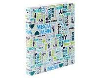 Blok poznámkový A4 4-krúžkový karis new york pvc 1ks