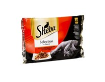 Sheba kapsičky Selection in Sauce šťavnatý výber pre mačky 4x85 g