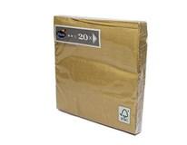 Servítky papierové Gold 3-vrstvové 33cm Duni 20ks