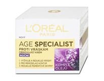 L'Oréal Age Specialist nočný krém proti vráskam 55+ 1x50 ml