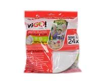 Tanier biely plastový priemer 20,5cm viGO Quickpack 24ks