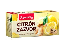 BOP Citrón a zázvor ovocný čaj 3x40 g