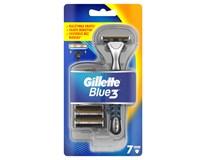 Gillette blue3 strojček 1+6 náhradných hlavíc 1x1 ks