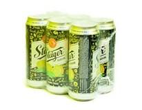 Steiger pivo nealkoholické tmavé citrón 6x500 ml PLECH