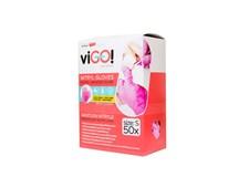 Rukavice latexové púdrované veľkosť S viGO Quickpack100ks