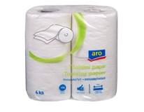 ARO Toaletný papier biely 2-vrstvový 16x4 ks