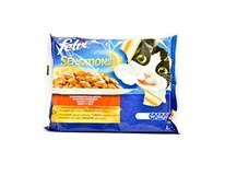 Felix Sensations kura a hovädzie želé krmivo pre mačky  4x100 g