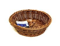 Košík plastový oválny hnedý 27cm H-Line 1ks