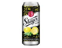 Steiger pivo nealkoholické tmavé citrón 4x6x500 ml PLECH