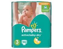 Pampers active baby S3 detské plienky 2x90 ks