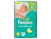 Pampers active baby maxi detské plienky 2x76 ks