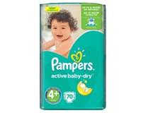 Pampers active baby maxi+ detské plienky 2x70 ks