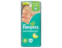 Pampers active baby x large detské plienky 2x56 ks