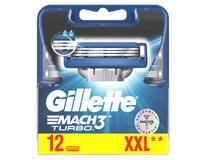Gillette Mach 3 Turbo náhradné hlavice 1x12 ks