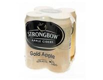 Strongbow cider gold 4x400 ml PLECH