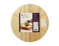 Doska na pizzu s drážkami drevo 35cm Hendi 1ks