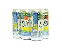 Steiger pivo nealkoholické svetlé citrón 6x500 ml PLECH