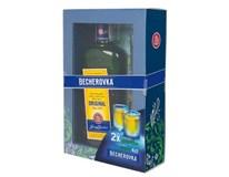 Becherovka 38% 1x700 ml + 2 kalíšky
