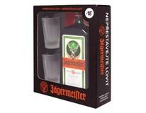 Jägermeister 35% 1x700 ml + 2 poháre