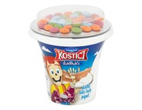 Danone Kostíci Sladkáči Jogurt biely s farebnými cukríkmi chlad. 10x109 g