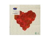 Servítky papierové My Love 3-vrstvové 33cm Duni 20ks