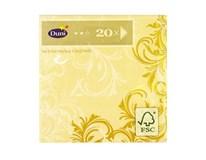 Servítky papierové Grace Cream 3-vrstvové 24cm Duni 20ks