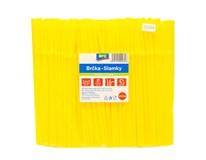 Slamky ohybné žlté ARO 250ks