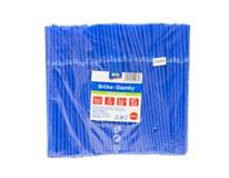 Slamky ohybné modré ARO 250ks