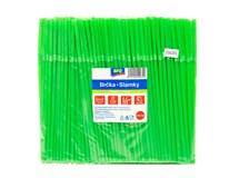 Slamky ohybné zelené ARO 250ks