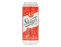 Steiger pivo radler 0,0° brusnica nealkoholické 4x6x500 ml PLECH