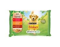 Friskies Vitafit Adult s hovädzím,kuracím a jahňacím v šťave kapsičky 4x100 g