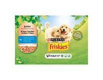 Friskies Vitafit Junior s kuracím mäsom a zeleninou v šťave kapsičky 4x100 g