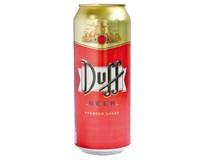 Duff pivo premium 5% 1x500 ml PLECH