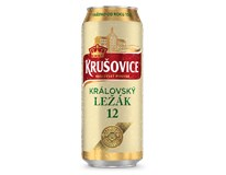 Krušovice pivo 12° 4x500 ml PLECH