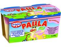 Dr. Oetker Paula vanilkový dezert s jahodami chlad. 2x100 g