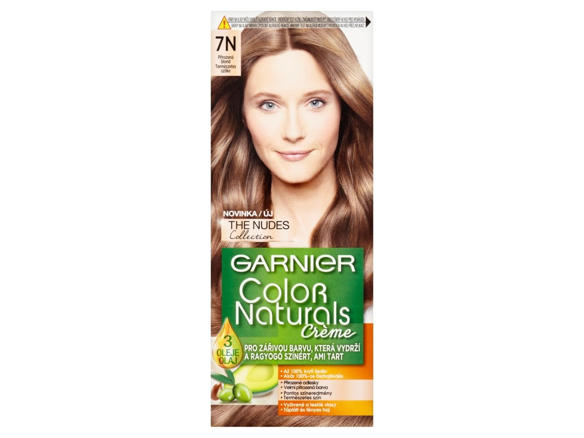 Garnier Color Naturals Farba Na Vlasy Nudes 7n Hneda 1x1 Ks Farby